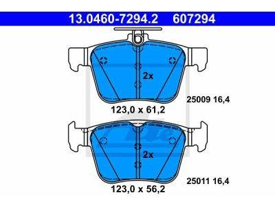Zadnje obloge kočnica 13.0460-7294.2 - Volkswagen Touran 15-