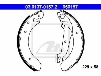 Zadnje zavorne čeljusti 03.0137-0157.2- Ford Sierra 82-93