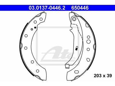 Zadnje zavorne čeljusti 03.0137-0446.2- Peugeot 206 98-