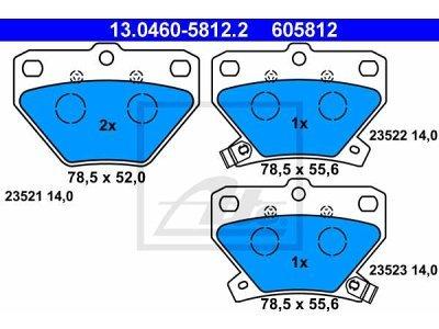 Zadnje zavorne obloge 13.0460-5812.2 - Toyota