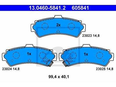 Zadnje zavorne obloge 13.0460-5841.2 - Nissan Almera 95-00