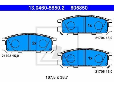 Zadnje zavorne obloge 13.0460-5850.2 - Subaru