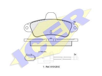 Zadnje zavorne obloge 61816 - Ford