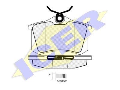 Zadnje zavorne obloge IE180697-700 - Seat, VW