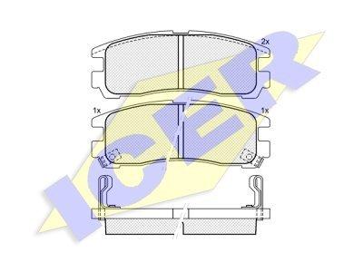 Zadnje zavorne obloge IE180981 - Mitsubishi Galant, Pajero, Space Wagon