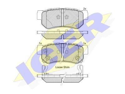 Zadnje zavorne obloge IE181645 - Hyundai, Kia