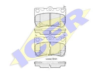 Zadnje zavorne obloge IE182060 - Lexus GT, IS