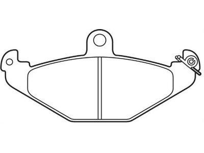 Zadnje zavorne obloge S70-1180 - Renault