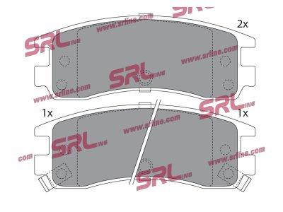 Zadnje zavorne obloge S70-1351 - Opel Sintra 96-99