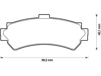 Zadnje zavorne obloge S70-1367 - Nissan Almera 95-00