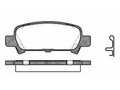 Zadnje zavorne obloge S70-1442 - Subaru Legacy 98-09