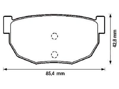 Zadnje zavorne obloge S70-1445 - Hyundai Coupe 96-99