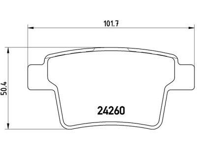 Zadnje zavorne obloge S70-1487 - Ford Mondeo 01-07