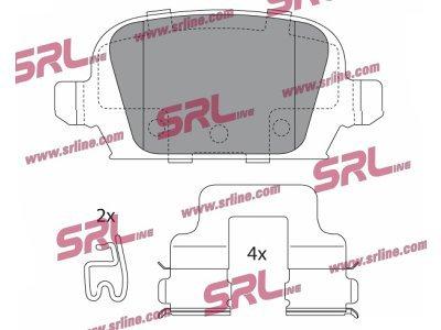 Zadnje zavorne obloge S70-1538 - Opel Combo 00-10