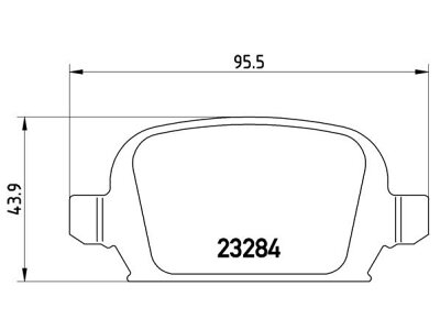 Zadnje zavorne obloge S70-1538 - Opel Combo C 00-10