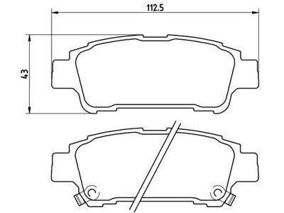Zadnje zavorne obloge S70-1539 - Toyota Previa 00-06