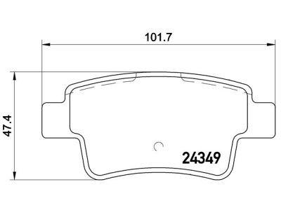 Zadnje zavorne obloge S70-1552 - Opel Corsa 00-15