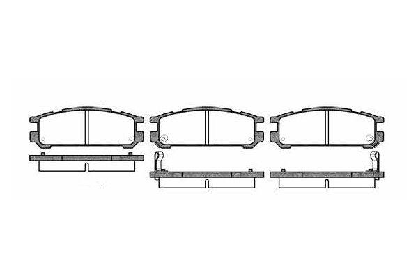 Zadnje zavorne obloge S70-1578 - Subaru Impreza 92-00