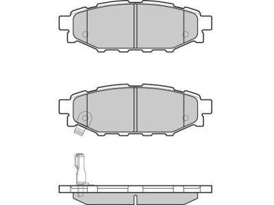Zadnje zavorne obloge S70-1610 - Subaru