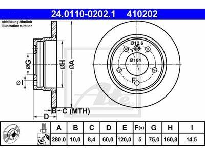 Zadnji diskovi kočnica 24.0110-0202.1 - BMW Serije 3 (E36) 90-99