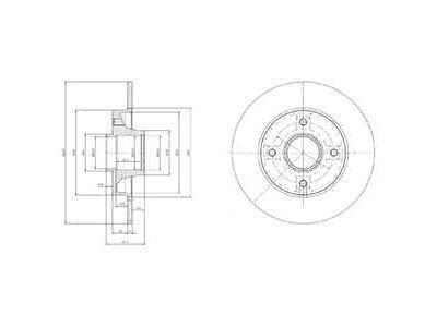 Zadnji diskovi kočnica BG9022RS - Citroen DS3 10-15