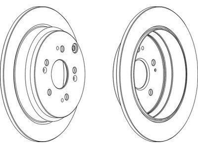 Zadnji diskovi kočnica BG9031RS - Opel Vivaro 01-14