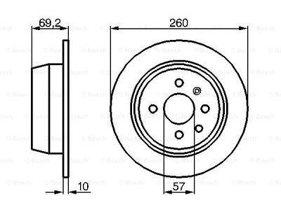 Zadnji diskovi kočnica BS0986478086 - Opel Vectra 88-95