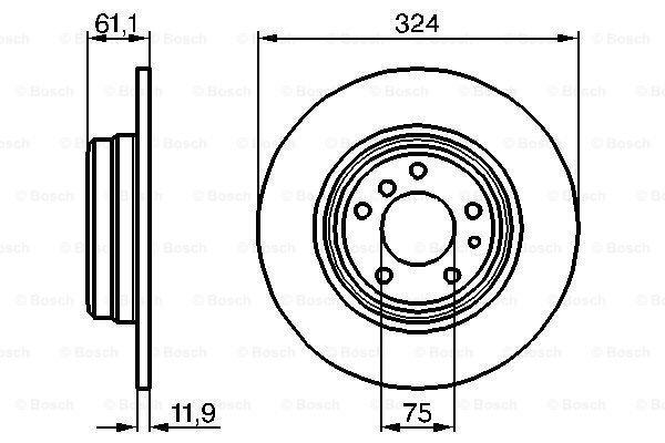 Zadnji diskovi kočnica BS0986478095 - BMW Serije 7 94-01