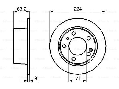 Zadnji diskovi kočnica BS0986478141 - Citroen XM 89-