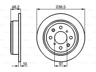 Zadnji diskovi kočnica BS0986478350 - Rover 400 89-00