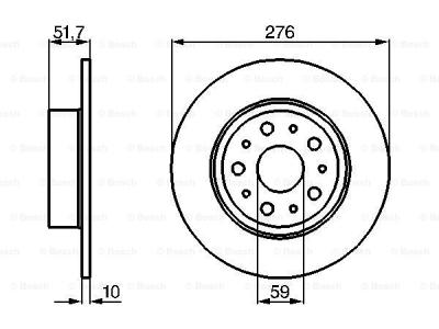 Zadnji diskovi kočnica BS0986478463 - Alfa Romeo 166 98-09