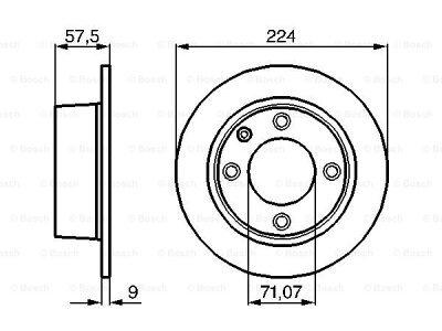 Zadnji diskovi kočnica BS0986478604 - Citroen Xantia 93-