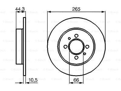 Zadnji diskovi kočnica BS0986478611 - Renault Laguna 94-01
