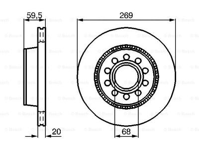 Zadnji diskovi kočnica BS0986478614 - Audi V8 88-93