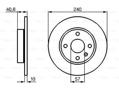 Zadnji diskovi kočnica BS0986478731 - Opel Combo 00-10