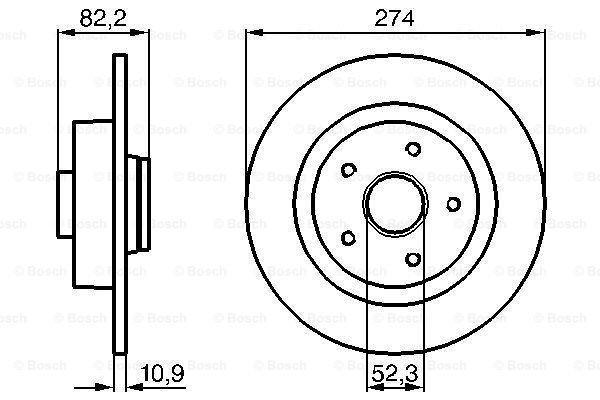 Zadnji diskovi kočnica BS0986478744 - Renault Laguna 01-07