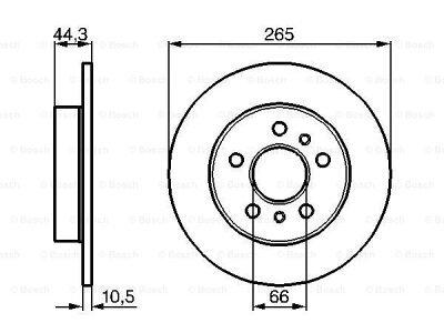 Zadnji diskovi kočnica BS0986478757 - Renault Safrane 92-