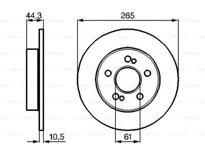 Zadnji diskovi kočnica BS0986478758 - Renault Laguna 94-01
