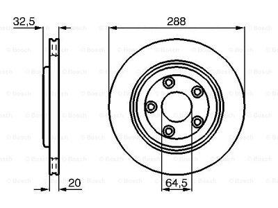 Zadnji diskovi kočnica BS0986478777 - Jaguar S-Type 98-08