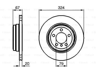 Zadnji diskovi kočnica BS0986479004 - BMW Serije 7 01-08