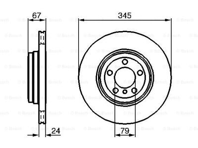 Zadnji diskovi kočnica BS0986479005 - BMW Serije 7 01-08