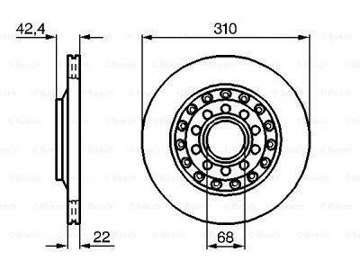Zadnji diskovi kočnica BS0986479062 - Volkswagen Phaeton 02-