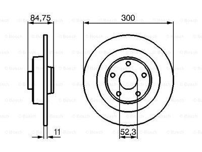 Zadnji diskovi kočnica BS0986479083 - Renault Espace 03-15