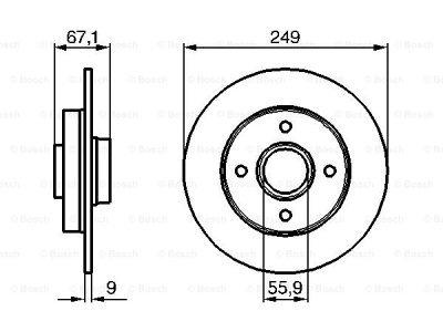 Zadnji diskovi kočnica BS0986479219 - Citroen C4 04-10