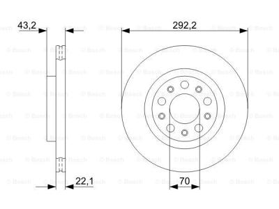 Zadnji diskovi kočnica BS0986479327 - Alfa Romeo Brera 05-10