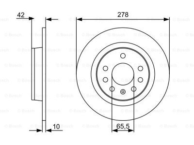 Zadnji diskovi kočnica BS0986479515 - Opel Zafira 05-11