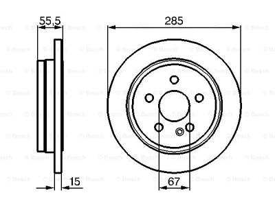 Zadnji kočioni diskovi BS0986478469 - Mercedes-Benz Razred M 98-05