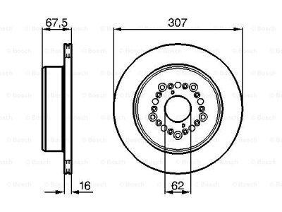 Zadnji kočioni diskovi BS0986479023 - Lexus LS 94-00