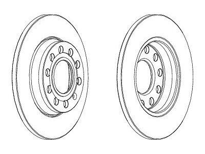 Zadnji kočioni diskovi S71-1319 - Audi A4 00-07