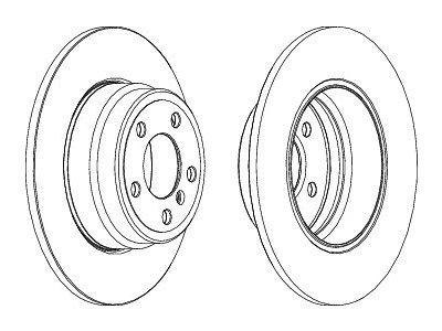 Zadnji kočioni diskovi S71-1358 - BMW X5 00-07
